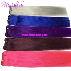 Mink Hair Blue Hair Colorful Purple Hair Grey Hair 99J Color Weave