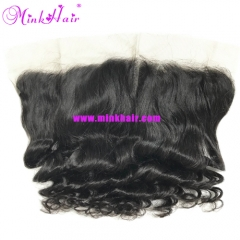 100% Virgin Miink Hair 13*4 Natural Color Loose Wave Lace Frontal
