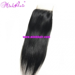 Mink Hair Silky Straight Brazilian Hair Mink Lace Closure