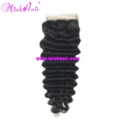 Brazilian Mink Hair Deep Wave Lace Closure Diamond Virgin Hair