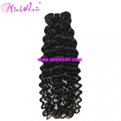 2018 Wholesale Italian Curly Natural Black Long Lasting Mink Hair Vendor