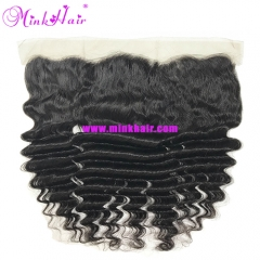 Wholesale Mink 100% Remy Virgin Brazilian Hair On Sale Deep Wave Frontal