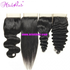Wholesale 10A Grade Mink Peruvian Lace Closure