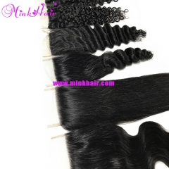 100% Human Virgin Hair Mink Malaysian Hair Lace Closure