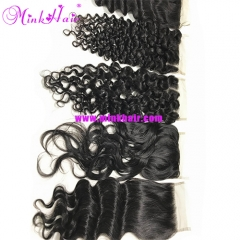 Mink Cambodian Lace Closure Top 10A Grade Quality Hair