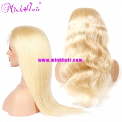 Mink Hair Blonde Full Lace Wig 10A Grade Sexy Wig