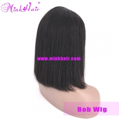 Bob Wig Mink Brazilian Short Lace Front Human Hair Wigs For Black Women
