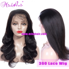150% Density 360 Lace Frontal Wig Pre Plucked With Baby Hair