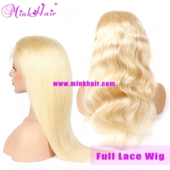 Mink Hair Blonde Full Lace Wig