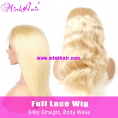 Mink Hair 180% Density Blonde Full Lace Wig