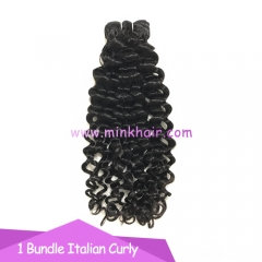 2020 Wholesale Italian Curly Natural Black Long Lasting Mink Hair Vendor