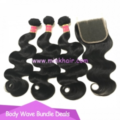 Free Shipping Bundle Deals Mink Brazilian Hair Body Wave