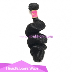 Mink Hair Weave From One Donor Raw Hair Mink Brazilian Loose Wave