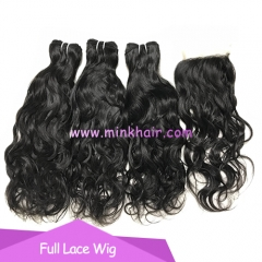 Free Shipment 10A Grade Virgin Brazilian Hair Water Wave Bundles