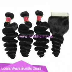 Mink Brazilian Hair Loose Wave 10A Grade Human Virgin Hair