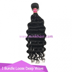 New Arrivial 100% Human Unprocessed Loose Deep Wave 10A Mink Brazilian Hair Bundles