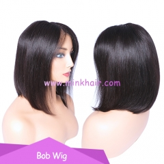 Bob Wig Mink Brazilian Short Lace Front Human Hair Wig For Black Women