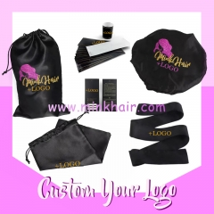 Customzied Service Hair Bundle Wrap Labels, Hair Tags, Satin Hair Bag, Satin Head Wrap, Satin Bonnet