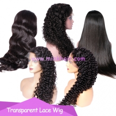 10A Grade Transparent Lace Wig 150% Density Full Lace Wig Lace Front Wig