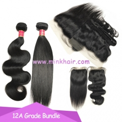 12A Grade Mink Hair Body Wave Silky Straight