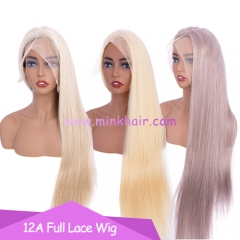 High Quality 12A Grade 180% Density Full Lace Wig