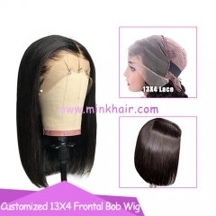 10A 13X4 Frontal Bob Wig 200% Density Brown Lace Wig