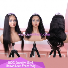 180% Density Brown Lace Front Wig 13x4 Lace 10A