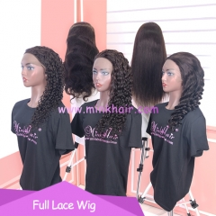 New Lace 10A Full Lace Wig 150% Density Brown Lace Wig 20inch 6 Textures