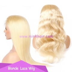 Mink Hair 150% Density Blonde Lace Wig