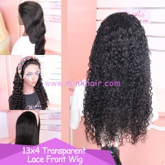 10A Grade 13x4 Transparent Lace Front Wig 150% Density