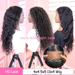 4X4 5X5 HD Lace Closure Wig 13X4 HD Lace Frontal Wig 180% Density Customized Wig