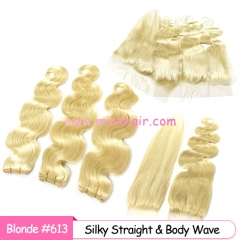 100% Human Raw Hair Product #613 Blonde Hair Mink Brazilian Hair