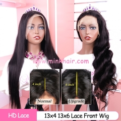 10A Grade HD Lace Front Wig 150% Density