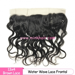 Brown Lace 2020 New Arrival Mink Brazilian Frontal Water Wave Texture
