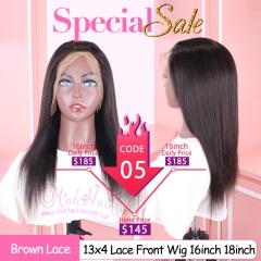 Special Sale Quality Lace Frontal Wig 13x4 150% Density Brown Lace Human Hair Wigs for Black Women