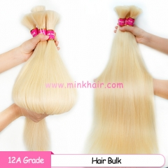 12A Grade Blonde #613 Hair Bulk Braiding No Weft Bundle